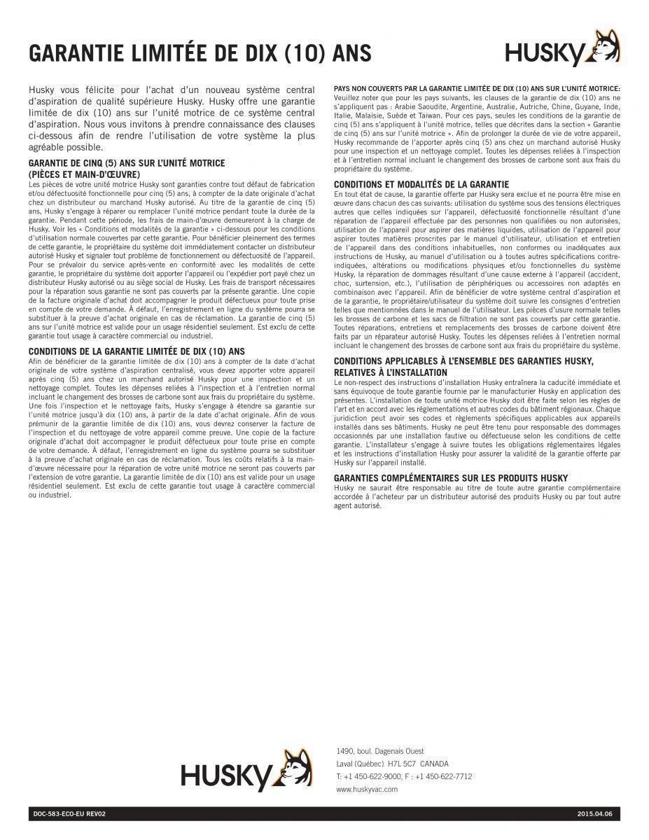 Documentation Husky Bretagne